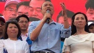 台湾高雄市市长、国民党总统初选参选人韩国瑜资料图片