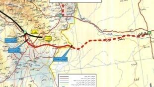 نقشه راه آهن ایران افغانستان