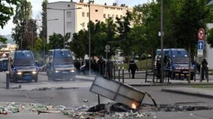 Règlement de compte entre des habitants du quartier des Grésilles à Dijon et des membres de la communauté tchétchène, le 15 juin 2020.