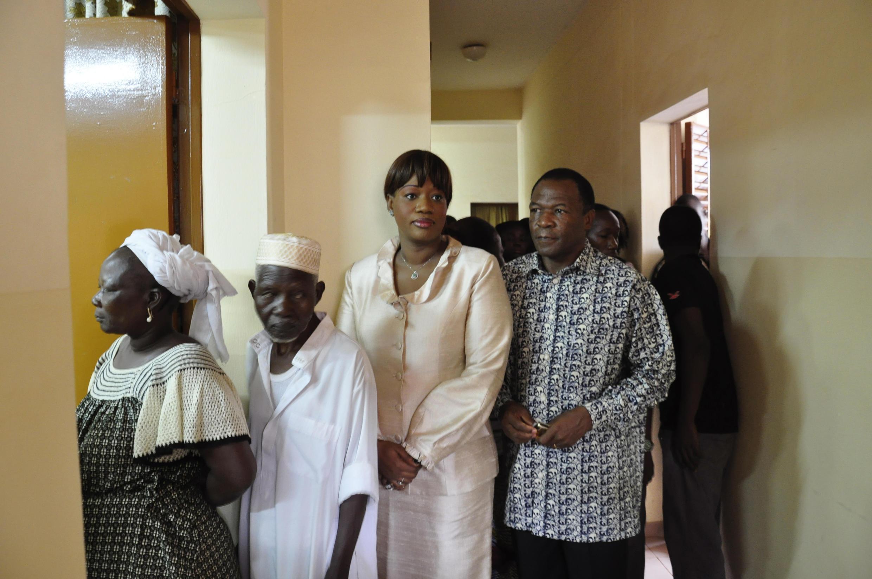 François Compaoré et sa compagne, lors des législatives et municipales du 2 décembre 2012 à Ouagadougou.