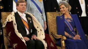 Tân Vương Hà Lan Willem-Alexander và Hoàng hậu Maxima.