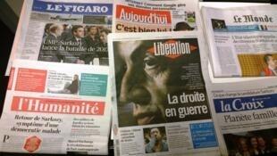 Primeiras páginas dos diários franceses 22/09/2014