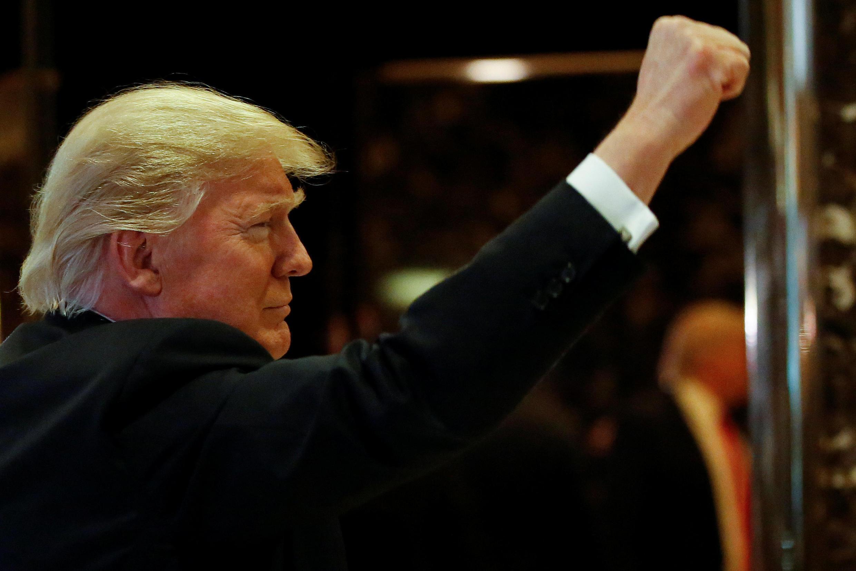 """Donald Trump en la """"Trump Tower"""" de Nueva York, santuario de sus negocios"""