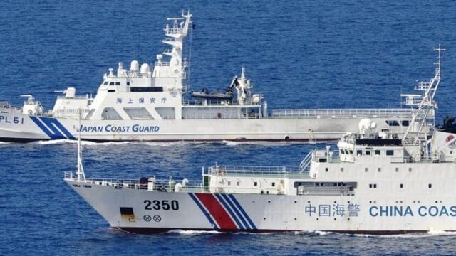 日本政府抗议中国海警舰接近日本渔船(photo:RFI)