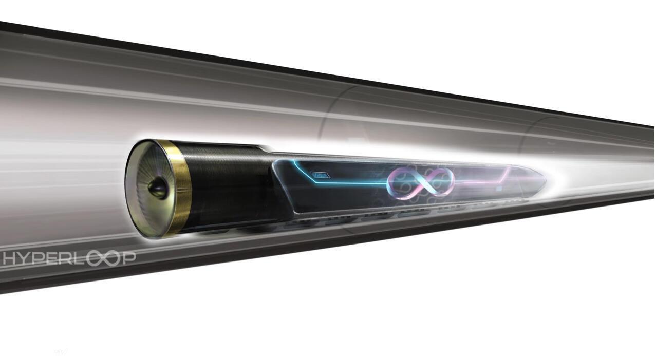 Ce système de transport à très grande vitesse consiste à propulser par un champ magnétique, dans un tube à basse pression atmosphérique, des capsules circulant sur toute la longueur du cylindre.