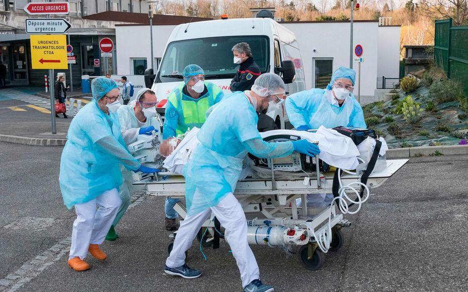 A l'hôpital Emile-Muller de Mulhouse 17 mars 2020
