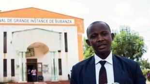 Clément Retirakiza, avocat des journalistes d'Iwacu.