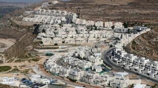 Vue de la colonie israélienne de Givat Zeev, près de Jérusalem. (Image d'illustration)
