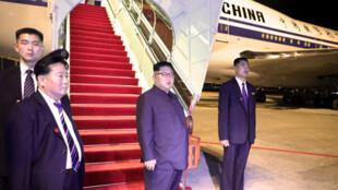 North Korean leader Kim Jong Un is seen ahead of his departure at Changi Airport, Singapore, June 12, 2018.