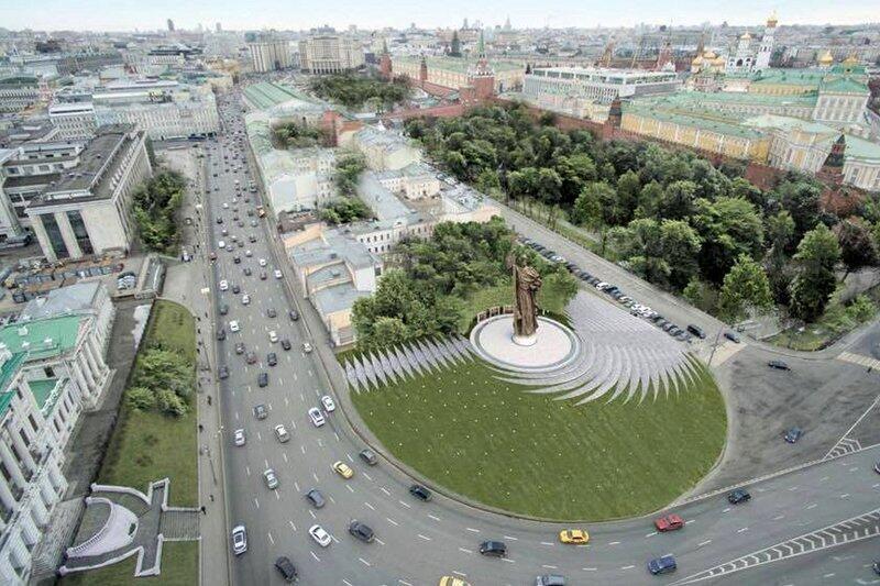 Проект памятника киевскому князю Владимиру в Москве