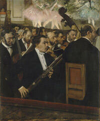 """ L'Orchestre de l'Opéra "", (vers 1869-1869) Edgar Degas."