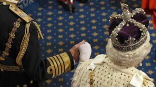 La reine Elizabeth II et le prince Philip, le 18 mai à Westminster.