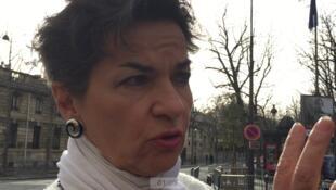A secretária-geral da ONU para a COP 21, Christiana Figueres, em Paris.
