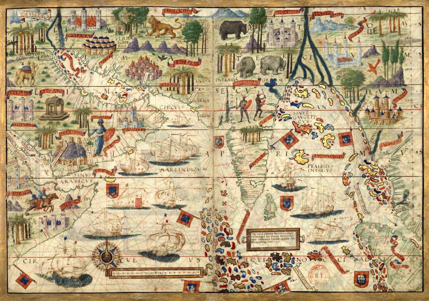 Портуланы давали мореплавателями не только информацию для навигации.