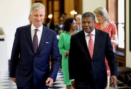 Rei Filipe da Bélgica com o presidente angolano João Lorenço em Bruxelas a 4 de Junho de 2018/