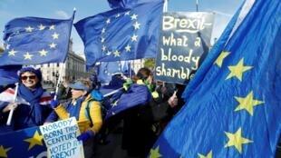 Biểu tình chống Brexit tại Luân Đôn, Anh Quốc, ngày 30/10/2019.