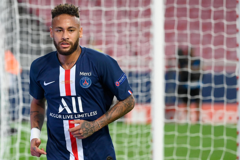 Neymar, le 23 août 2020 à Lisbonne, lors de la finale de la Ligue des champions entre le PSG et le Bayern Munich