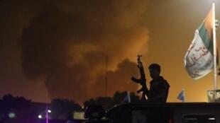 Moshi ukionekana kwenye uwanja wa ndege wa Karachi baada ya kuzimwa kwa shambulio Juni 9, mwaka 2014