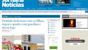 Imprensa portuguesa afirma que brasileira provocou explosão para se suicidar e matou os filhos, na quarta-feira (22).