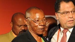 Le Congolais Pierre Ndaye Mulamba, héros de la CAN 1974, en décembre 2009 au Cap.