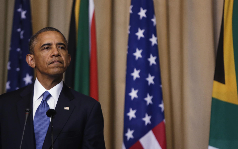 Obama falou à imprensa neste sábado após se encontrar com o presidente sul-africano, Jacob Zuma.