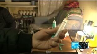 Ma túy Krokodil hoành hành tại Nga - Ảnh chụp màn hình phóng sự của đài truyền hình Pháp France 24 tháng 03/2012