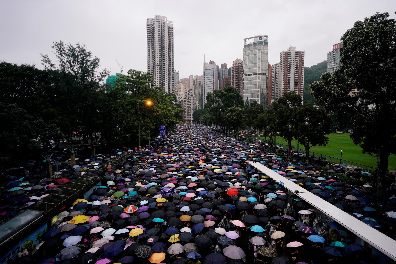 香港反送中法案的示威民眾 2019年8月18日
