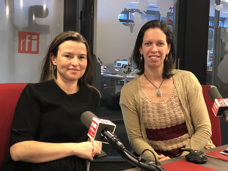 Fernanda Consoni e Namíbia de Ana, da Associação Herança Brasileira.
