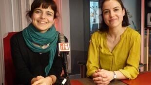 Las hermanas Ana y Carmen Mainer Martín en RFI