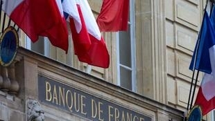 A picture taken on June 8, 2012 shows the facade of the Banque de France (central bank of France) in Paris