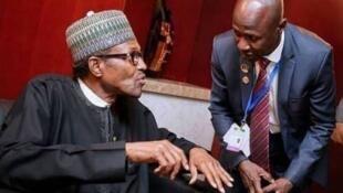 Wani tsohon hoton shugaban Najeriya Muhammadu Buhari tare da korarren shugaban hukumar EFCC, Ibrahim Magu.