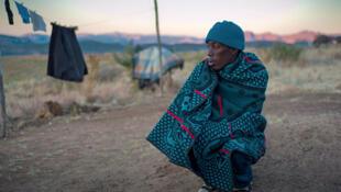 Personne souffrant de tuberculose au Royaume du Lesotho.