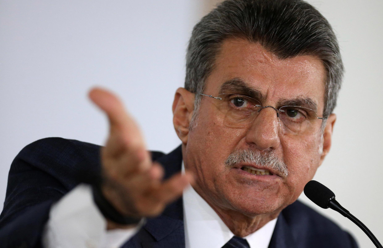 Romero Juca (ici le 23 mai 2016) était un homme clé dans le dispositif du pouvoir établi après la mise à l'écart de Dilma Rousseff.
