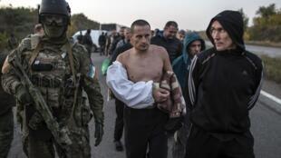 Ubadilishanaji wafungwa eneo la mashariki mwa Donetsk, Septemba 28.