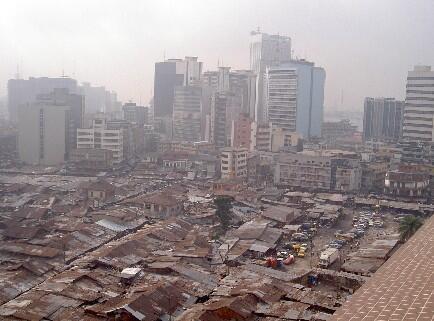 Vue sur la ville du Lagos
