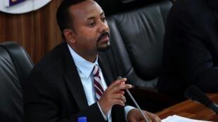 Abiy Ahmed, Waziri Mkuu wa Ethiopia, wakati wa kikao cha bunge huko Addis Ababa, Oktoba 22, 2019.