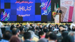 رضا صالحی امیری، وزیر فرهنگ و ارشاد اسلامی، در مراسم گشایش نمایشگاه کتاب تهران