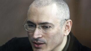 Михаил Ходорковский на судебном заседании в Москве 18 мая 2010