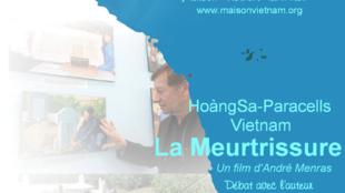 """Áp phích phim """"Hoàng Sa, nỗi đau mất mát"""" cho buổi chiếu phim tại Toulouse."""