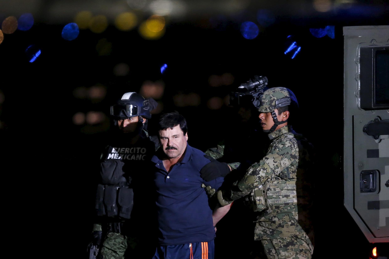 """دستگیری Chapo Guzman، معروف به """"ال پاچو""""، جمعه ٨ ژانویه ٢٠١٦ در خانه خود در ایالت سینالوای مکزیک."""