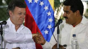 Santos y Maduro relanzaron este 23 de julio las relaciones bilaterales.