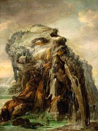 Josse de Momper. «Les Quatre Saisons : Allégorie de l'hiver». Début XVII siècle. Huile sur toile, 52,2 x 39,6cm. Collection particulière.