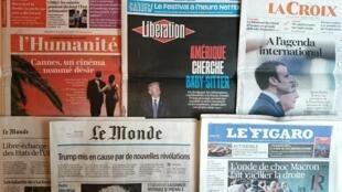 Diários franceses desta quarta-feira 17 de Maio de 2017.