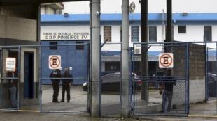 Entrada do Centro de Detenção de Pinheiros, em São Paulo, onde o executivo Diego Dzodan ficou detido.