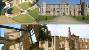 Los cuatro monumentos seleccionados: el Castillo de Vair, el Castillo de Villemont, la Iglesia Saint-Jean de Vidailhac y la Fortaleza de Oppède-le-Vieux.