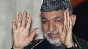 Hamid Karzai in London last month