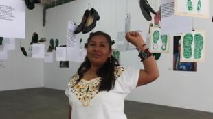 María de Jesús Tlatempa, madre de uno de los estudiantes de Ayotzinapa que llevan más de treinta meses desaparecidos.