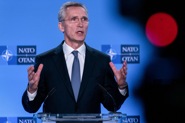 Le secrétaire général de l'Otan, Jens Stoltenberg, a appelé l'Iran à éviter «davantage de violence et de provocations» à l'issue d'une réunion extraordinaire des ambassadeurs de l'Alliance atlantique à Bruxelles, le 6 janvier 2020.