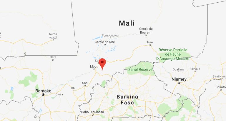 A Bandiagara, des assaillants ont attaqué l'hôtel La Falaise ce 28 mars 2018.