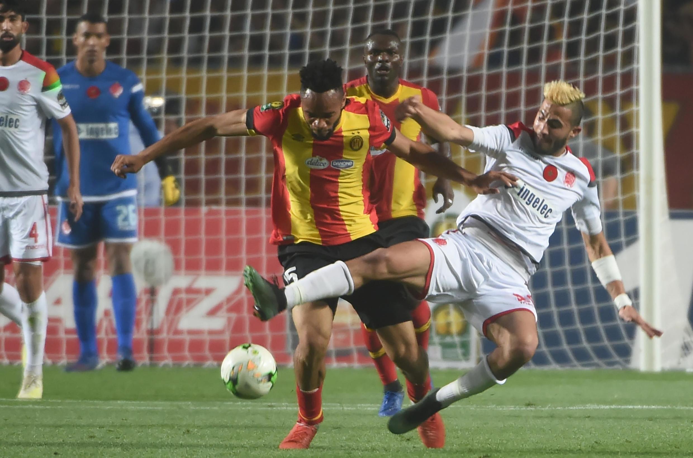 Lors de la finale retour de la Ligue des champions CAF 2019 entre l'Espérance Tunis et le Wydad Casablanca.